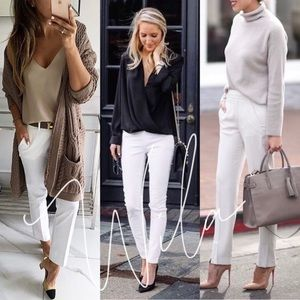 TALIA🖤 tailored white pants trousers office work